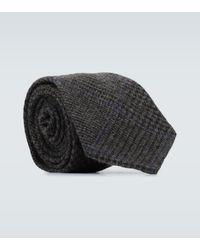 Ralph Lauren Purple Label Cravate en cachemire - Gris