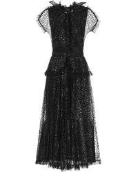 Rodarte - Robe aus Tüll mit Pailletten - Lyst