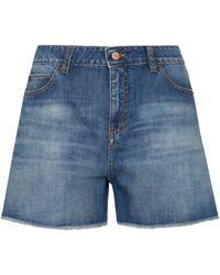 Victoria, Victoria Beckham Silverlake Denim Shorts - Blue