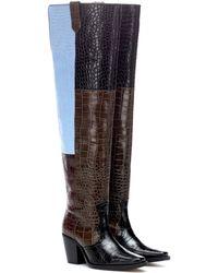 Ganni Nadine Over-the-knee Leather Boots - Black