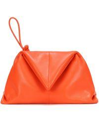 Bottega Veneta Clutch BV Trine aus Leder - Orange