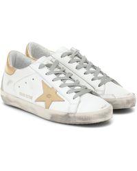 Golden Goose Deluxe Brand Sneakers Superstar aus Leder - Orange