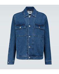 Nanushka Boxy-fit Denim Jacket - Blue