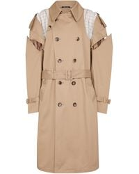 Maison Margiela Deconstructed Cotton Trench Coat - Natural
