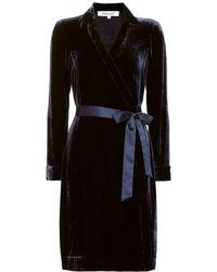 Diane von Furstenberg Abito a portafoglio Tanya in velluto - Nero