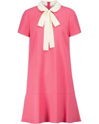 RED Valentino Crêpe Minidress - Pink