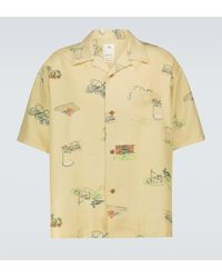 Visvim Camisa Wallis Garden de seda - Amarillo