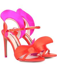 Sophia Webster Lucia Satin Sandals - Red