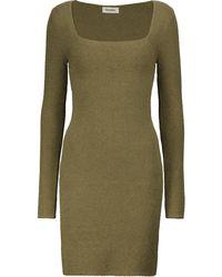Nanushka Leah Cotton-blend Minidress - Green