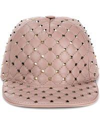 Valentino Rockstud Spike Cap - Pink