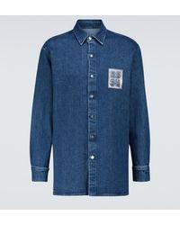 Raf Simons Camisa de jeans - Azul