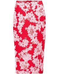 Diane von Furstenberg Falda tubo Kara de cady de seda - Rojo