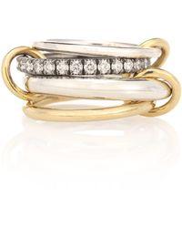 Spinelli Kilcollin Ring Janssen WG aus 18kt Gelbgold und Sterlingsilber mit Diamanten - Mettallic