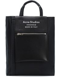 Acne Studios Baker Leather-trimmed Tote - Black