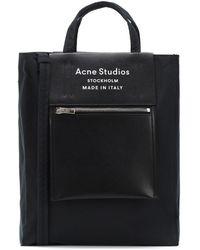Acne Studios Tote Baker Medium mit Leder - Schwarz