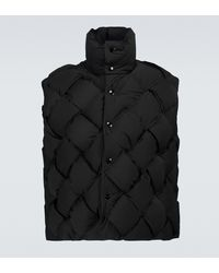 Bottega Veneta Technical Nylon Vest - Black
