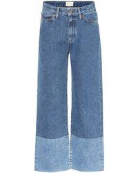 Simon Miller High-Rise Jeans Deisem - Blau