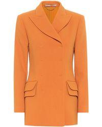 Emilia Wickstead Blazer Brenton de lana - Naranja