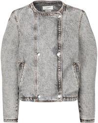 Étoile Isabel Marant Chaqueta Lisoa de jeans cropped - Gris
