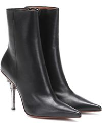Vetements Eiffel Tower Leather Ankle Boots - Black
