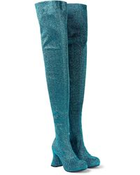Stella McCartney Groove Lurex® Over-the-knee Boots - Blue