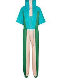 Dodo Bar Or Jumpsuit aus Leder - Blau