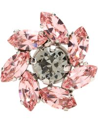 Jimmy Choo Fleur Crystal Shoe Button - Pink