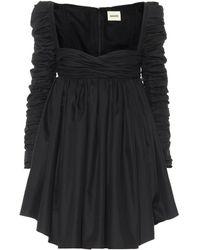Khaite Sueanne Cotton Twill Minidress - Black