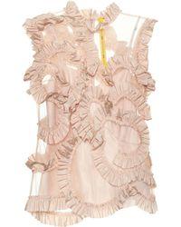 bf4b5c376 4 Moncler Simone Rocha Ruffled Silk-blend Top