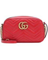 Gucci GG Marmont Matelasse Mini Bag - Rot