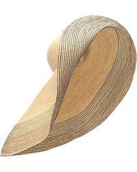 Lola Hats Capeline Spinner Bis en raphia - Neutre