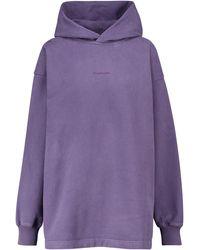 Acne Studios Sudadera con capucha en algodón - Morado