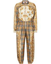 Burberry - Combi-pantalon en soie imprimée Vintage Check - Lyst