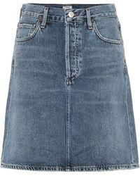 Citizens of Humanity Minifalda Lorelle de jeans - Azul