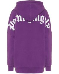 Palm Angels Oversize Hoodie aus Jersey - Lila