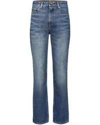 Ganni High-rise Straight Jeans - Blue