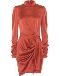 Zimmermann Espionage Stretch-silk Dress - Red