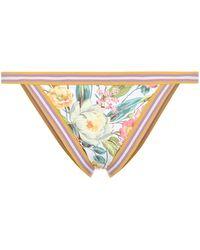 Zimmermann Zinnia Floral Bikini Top - Multicolour