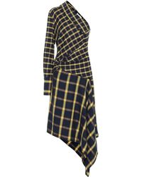 Monse Checked Cotton Midi Dress - Multicolor