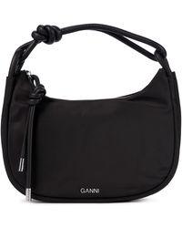 Ganni Medium Baguette Bag - Black