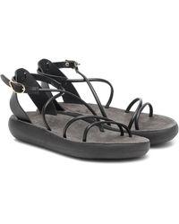 Ancient Greek Sandals Anastasia Comfort Leather Sandals - Black