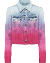 Off-White c/o Virgil Abloh Chaqueta de jeans print tie-dye - Multicolor