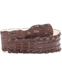 Balmain - Crocodile Leather Belt - Lyst
