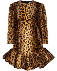 Khaite - Lorie Cheetah-print Velvet Minidress - Lyst