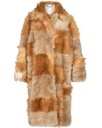 Stella McCartney Cappotto Adrienne in pelliccia sintetica - Marrone