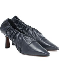 Neous Chondro Leather Court Shoes - Blue