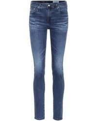 AG Jeans - The Prima Mid-rise Skinny Jeans - Lyst