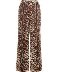 Dolce & Gabbana Bedruckte Hose aus Seide - Mehrfarbig