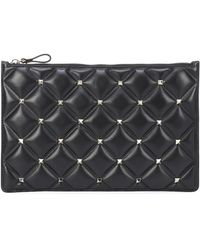 Valentino Bustina Candystud in pelle - Nero
