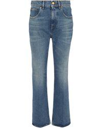 Golden Goose Cropped Bootcut Jeans Deryn - Blau